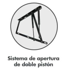 Sistema de apertura de doble pistón